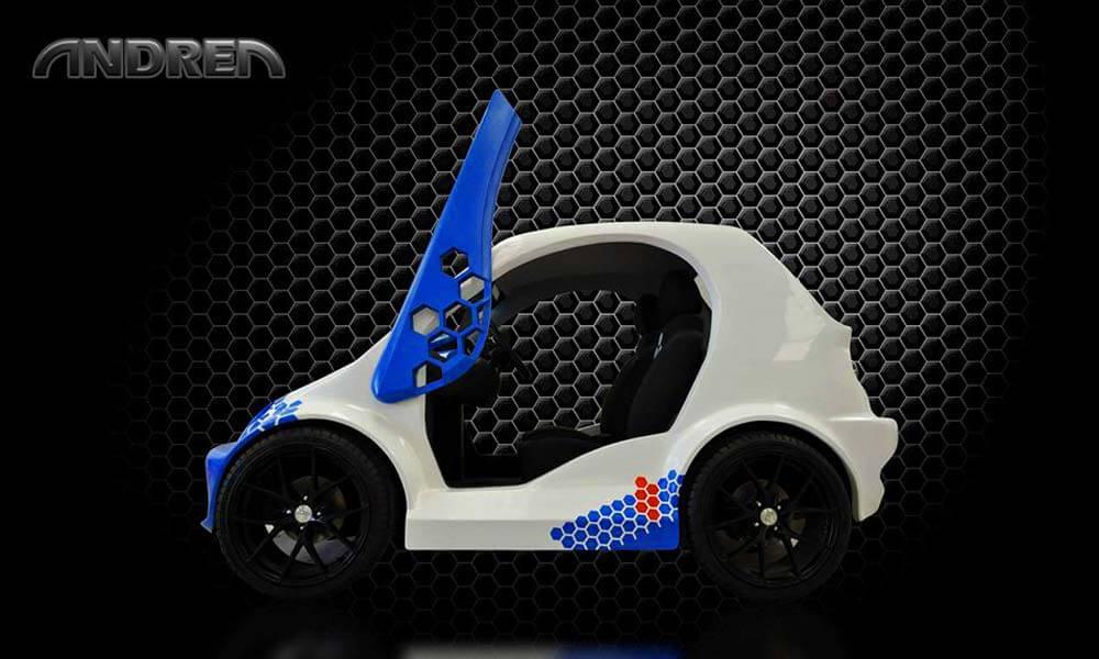 Diseño de Andrea Go, el auto eléctrico más económico de México