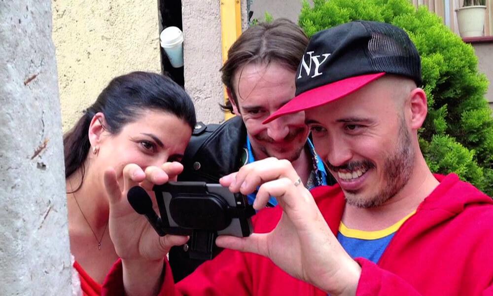 Filmación de la película mexicana Oso Polar